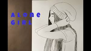 رسم فتاة حزينة Alone Girl Drawing Pic Youtube