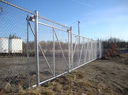 Chain Link Slide Gate On Cantilever Rollers Reliable Fence