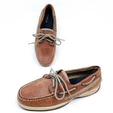 intrepid boat shoes brown leather