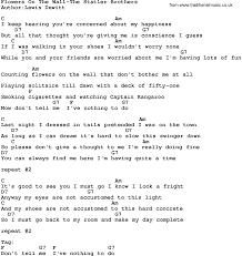 Wall-The Statler Brothers Lyrics ...
