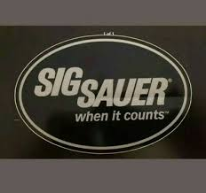 Decals Stickers Sig Sauer When It Counts Black Decal Sticker Sporting Goods