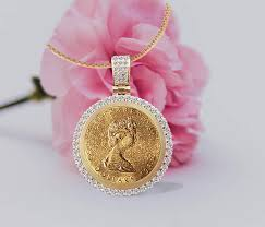 gold coin medallion necklace