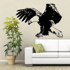 Hot Sale Flying Eagle Wall Sticker Vinyl Animal Bird Wall Decal Home Decoration Art Mural Free Shipping Wallpaper Y 435 Bird Wall Decal Eagle Wall Stickerswall Sticker Aliexpress