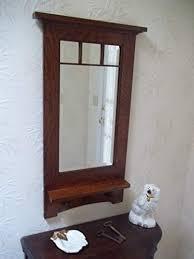 craftsman style hanging wall mirror