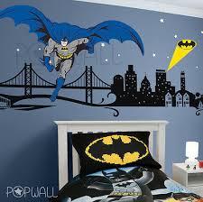 Batman Wall Decal Super Hero Cityscape Avengers Wall Sticker For Kids Room Ebay