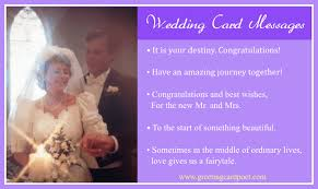 wedding card messages wishes and