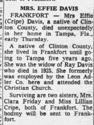 Effie Davis Obit - Newspapers.com