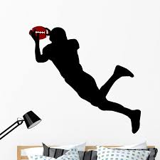 American Football Silhouette Wall Decal By Wallmonkeys Peel And Stick Graphic 48 In W X 46 In H Wm196803 Walmart Com