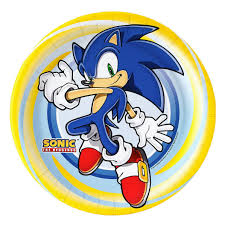 Sonic The Hedgehog Dinner Plates En 2020 Cumpleanos De Sonic