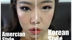 korean vs american makeup style you