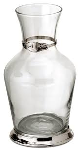 wine decanter litre grey pewter and