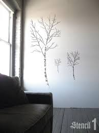birch trees stencil large stencil 1