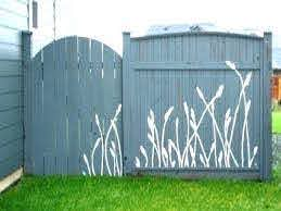 Outdoor Wall Mural Stencils Google Search Garden Fence Art Fence Decor Fence Design