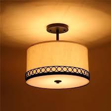 drum shade ceiling light revue