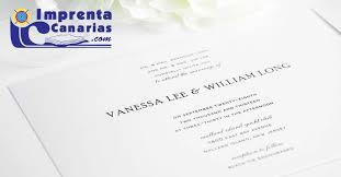 Invitaciones Canarias Imprenta Canarias Imprenta Canarias