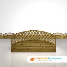 Convex Arched Lattice Top Fence Panels 3ft X 6ft Brown
