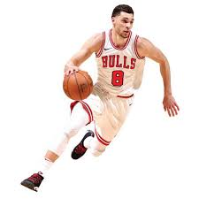 Fathead Zach Lavine Chicago Bulls Life Size Removable Wall Decal
