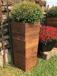 33 mocha tall cedar wood planter patio
