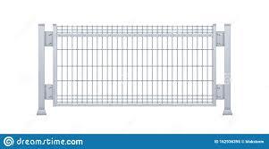 Realistic Vector Galvanized Sheet Metal Fence Panel Rectangular Steel Mesh V Type Stock Vector Illustration Of Link Military 162936395
