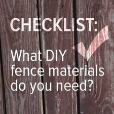 Checklist What Diy Fence Materials Do You Need