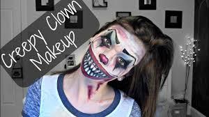creepy clown makeup you