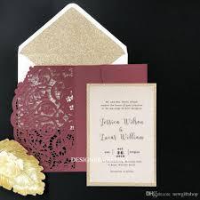 marsala wedding invitation with glitter