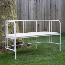 round back bench in outdoor living
