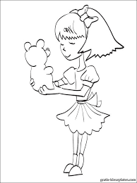 Meisje Met Een Stuk Speelgoed Om In Te Kleuren Gratis Kleurplaten