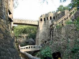 rock garden in chandigarh india man