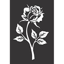 Amazon Com Rose Flower Die Cut Vinyl Window Decal Sticker For Car Truck Kitchen Dining