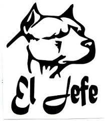 Pitt Bull El Jefe Silhouette Vinyl Decals Sticker 8 W X 10 H Buy 2 Get 1 Free Ebay