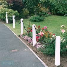 Plastic Post Chain Fencing Plastic Fencing Tekplas Chain Fence Fence Landscaping Rope Fence