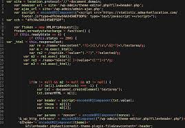 malicious javascript used in wp site