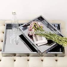 decorative glass mirrored coffee table