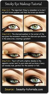 smokey eye makeup for blue eyes step by