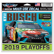 Wincraft Kyle Busch 2019 Monster Energy Nascar Cup Series Playoffs 4 X 6 Multi Use Decal