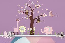Pastel Nursery Decals Girls Animal Decals Pink Animal Decals Nurserydecals4you