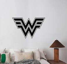 Amazon Com A Good Decals Usa Wonder Woman Logo Wall Sticker Vinyl Decal Dc Comics Art Housewares Decorations For Home Interior Girls Room Playroom Superhero Decor Wvm8 Home Kitchen