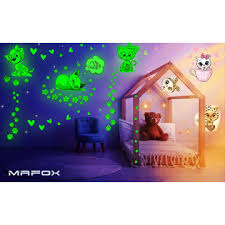 Mafox Glow In The Dark Cat Stickers With Dog And Fish Wall Decals Sticker For Kids Be