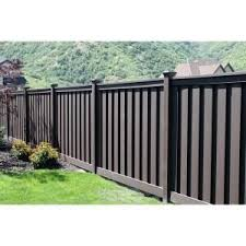 Trex Seclusions 6 Ft X 8 Ft Woodland Brown Wood Plastic Composite Board On Board Privacy Fence P In 2020 Privacy Fence Panels Privacy Fence Designs Wood Fence Design