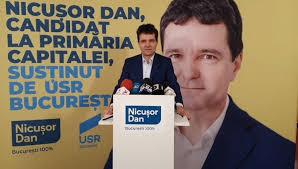 Nicușor Dan a prezentat un sondaj care-l dă drept candidatul care ...
