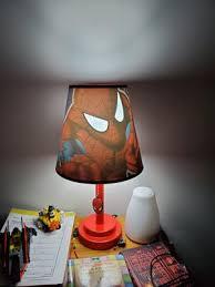 Marvel Spiderman Kids Room Die Cut Table Lamp Walmart Com Walmart Com