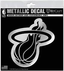Amazon Com Miami Heat S72993 Metallic Window Decals Sports Outdoors