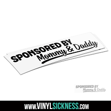 Sponsored By Mommy And Daddy Jdm Funny Stickers Decals Vs