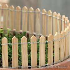 Miniature Wooden Picket Fence