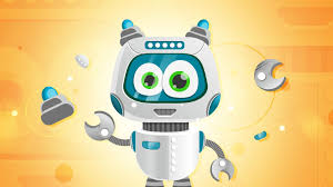 vector robot character in ilrator