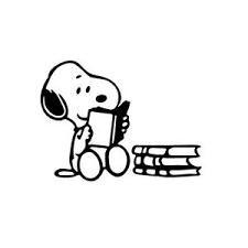 Snoopy Reading Vinyl Decal Sticker For Mac Air Pro Laptop Car Window Wall Helmet Ebay