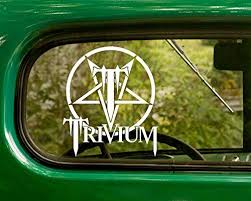 Amazon Com 2 Trivium Decal Rock Band Stickers White Die Cut For Window Car Jeep 4x4 Truck Laptop Bumper Rv Home Kitchen