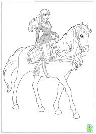 Barbie Riding Horse Coloring Pages