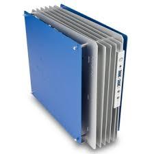 mini blue aluminum mini itx puter